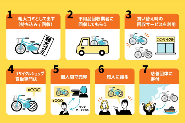 自転車を処分する7つの方法