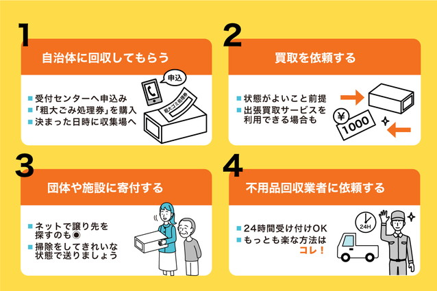 衣装ケースを処分する4つの方法