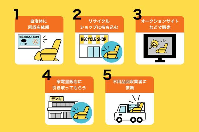 マッサージチェアの正しい処分方法5選