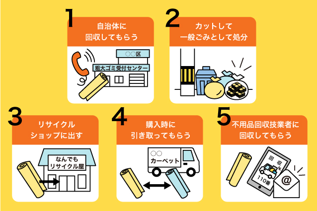 カーペットの正しい捨て方5選