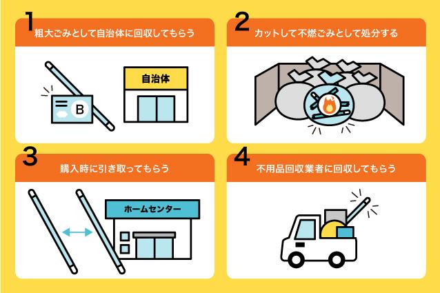 物干し竿を捨てる4つの方法
