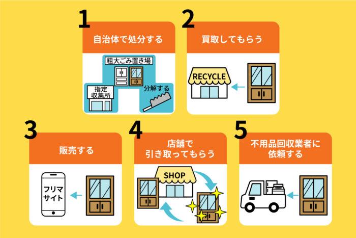 食器棚を正しく処分する5つの方法